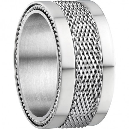 Bering Ringkombination Edelstahl Mesh Sherman-X