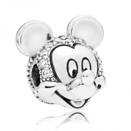 PANDORA Disney Silber Charm Shimmering Mickey Portrait 797495CZ