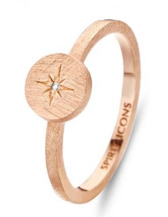 SPIRIT ICONS Ring North Star Silber Rosévergoldet 53114