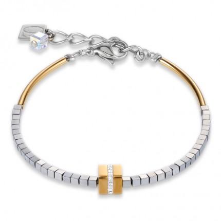 COEUR DE LION Armband Hämatit Gold 4966/30-1617
