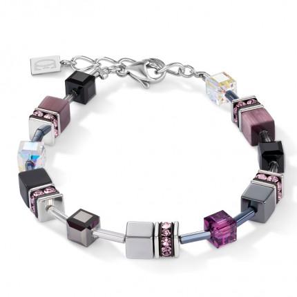 COEUR DE LION Armband Geo Cube Medium Amethyst 5011/30-0824