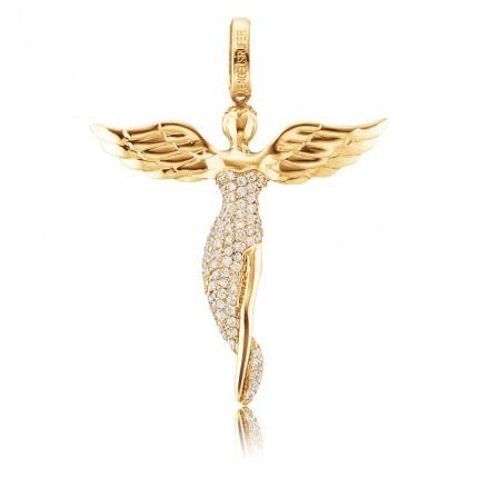 Engelsrufer Silber Gold plated Engel Zirkonia ERP-ANGEL-SG