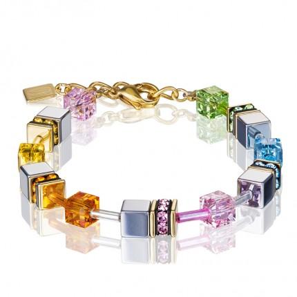 COEUR DE LION Armband Geo Cube Multicolor Pastell 1 4015/30-1522
