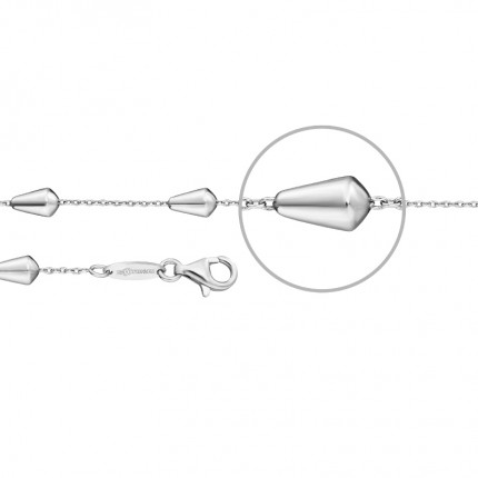 DER KETTENMACHER Gocciaarmband Silber Rhodiniert 4,5mm GO-19S