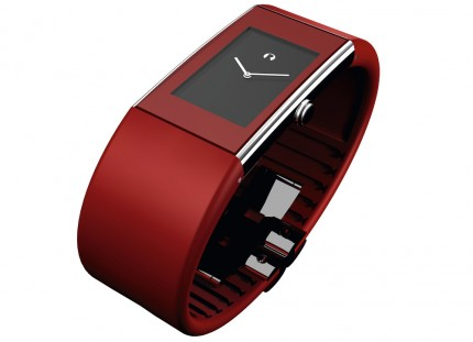 ROSENDAHL Armbanduhr Watch II Large Edelstahl Polyurethan Rot 43168
