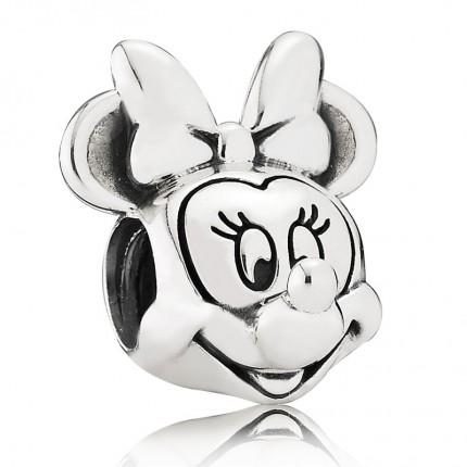 PANDORA Disney Silber Charm Minnie Portrait 791587