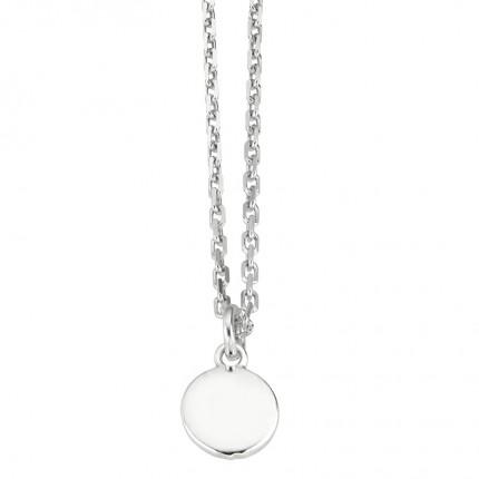 CEM Collier Silber Plättchen S-00409C