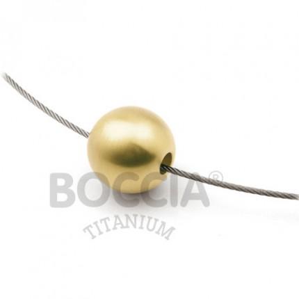 Boccia Anhänger Titan Kugel Gold 0709-0214