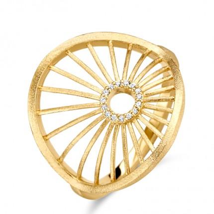 SPIRIT ICONS Ring Aura Silber Vergoldet 51252