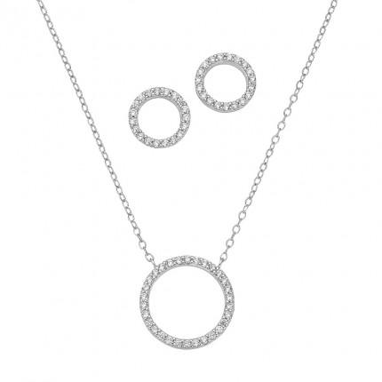 CEM Schmuckset Silber Zirkonia BGT906202