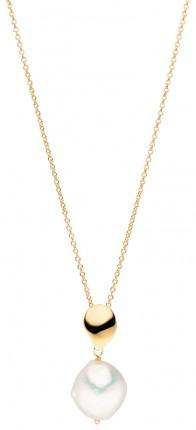 ADRIANA Halskette Silber Vergoldet Süßwasserperle R221V