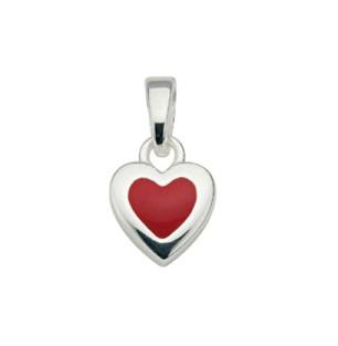 CEM Anhänger Silber Herz Rot BAH 901506