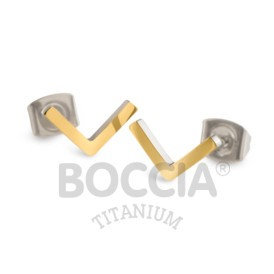 Boccia Ohrschmuck Titan V-Form Gold 05024-02