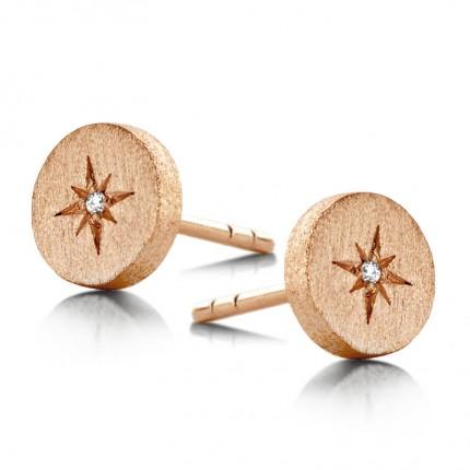 SPIRIT ICONS Ohrschmuck North Star Silber Rosévergoldet Diamant 40114