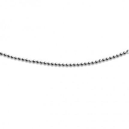 DUR Kugelkette Silber Rhodiniert K2463