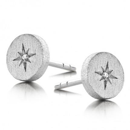 SPIRIT ICONS Ohrschmuck North Star Silber Diamant 40111