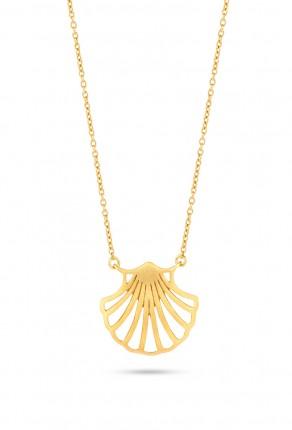 SPIRIT ICONS Collier Shell Silber Vergoldet 10482-45