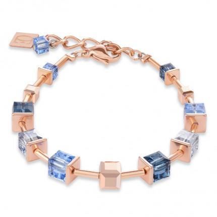 COEUR DE LION Armband MonochromeBLUE Swarovski Blau 4996/30-0700