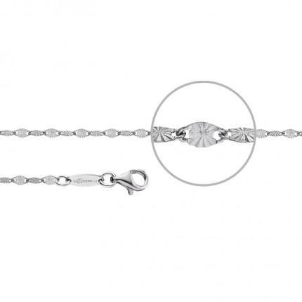 DER KETTENMACHER Plättchenarmband Silber Rhodiniert 2,2mm PL-19S