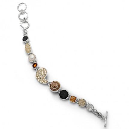 DUR Armband Silber Sandnautilus Mix A1591