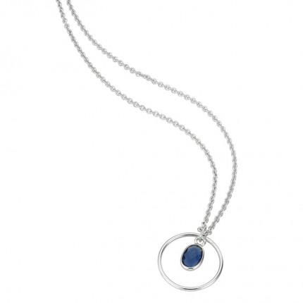 CEM Collier Silber Quarz Blau S-00603C