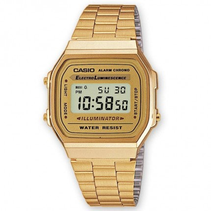Casio Armbanduhr Vintage Collection Iconic Gold A168WG-9BWEF