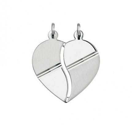 CEM Anhänger Herz Silber 2 tlg. BAH 903016