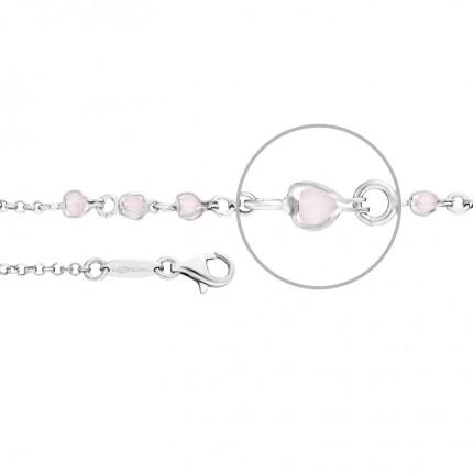 DER KETTENMACHER Armband Silber Rhodiniert Quarz Rosa AG1-19S