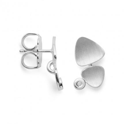 Bastian Inverun Ohrstecker 925/- Silber Rhodiniert mit Diamant 38191