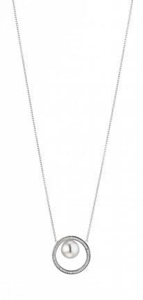 ADRIANA Halskette Silber Rhodiniert Süßwasserperle R165