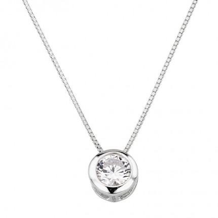 CEM Collier Silber Zirkonia BCO901565