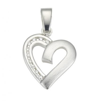 CEM Anhänger Herz Zirkonia Silber BAH 904741