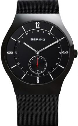 Bering Herrenuhr Classic Slim Quarz Schwarz 11940-222