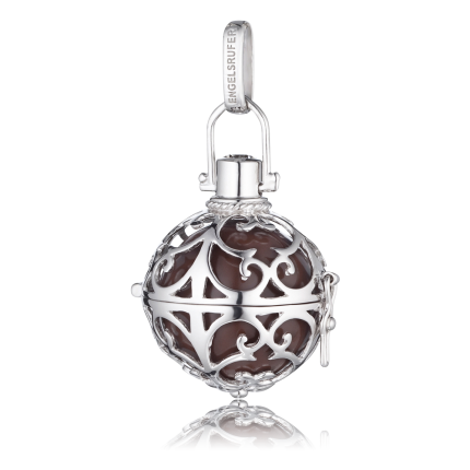 Engelsrufer Silber Rhodiniert mit Klangkugel Braun ER-03-L