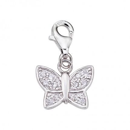 CEM Charms Anhänger Schmetterling Zirkonia Silber CMM209