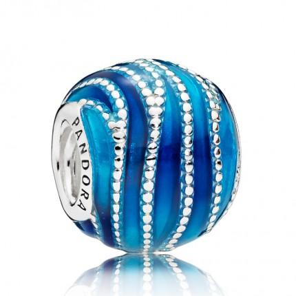 PANDORA Silberelement Blue Swirls 797012ENMX