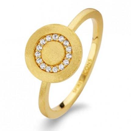SPIRIT ICONS Ring Iris Silber Vergoldet 53062
