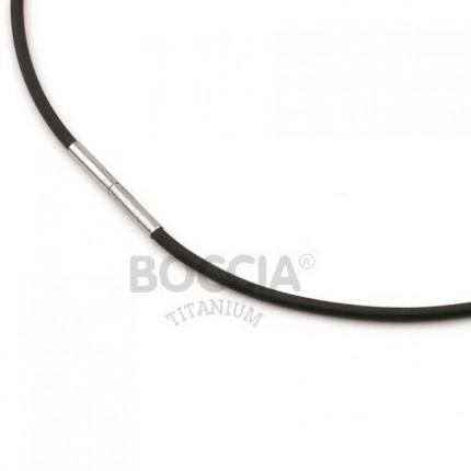 Boccia Collier Kautschuk Schwarz 0801-01