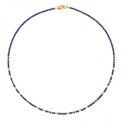 BERND WOLF Collier TABACI Silber Goldplattierung Lapislazuli 84457236-43