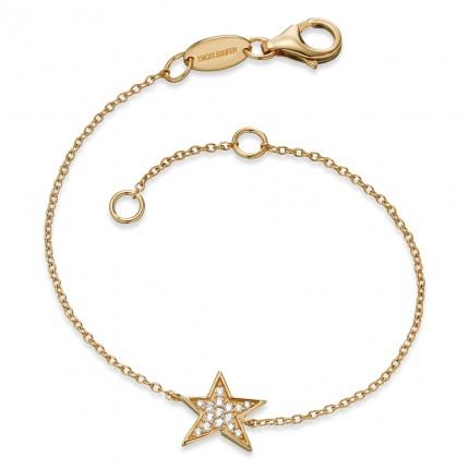 Engelsrufer Armband Stern Silber vergoldet ERB-LILSTAR-ZI-G