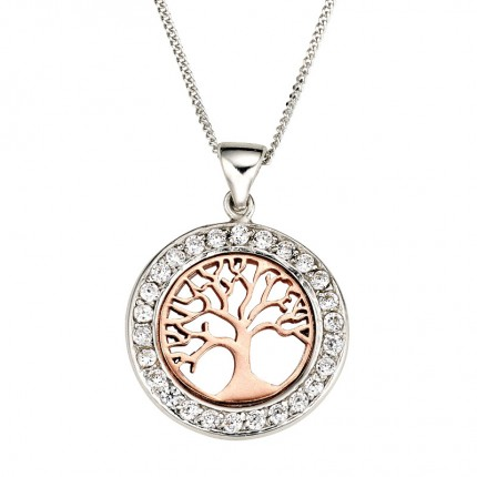 CEM Collier Silber Lebensbaum BCO901560