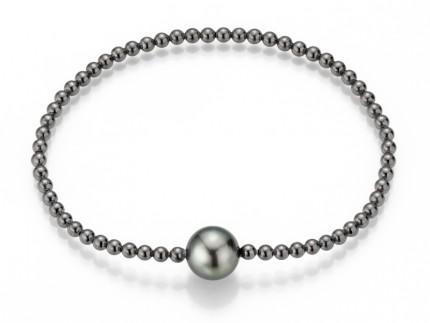 ADRIANA Armband Silber Geschwärzt Tahitiperle PR4-76