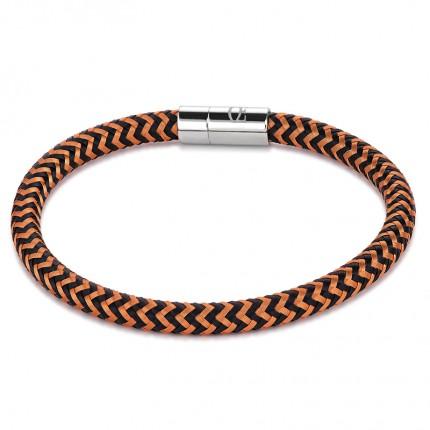 COEUR DE LION Armband Metall Geflochten Orange Schwarz 0116/31-0213