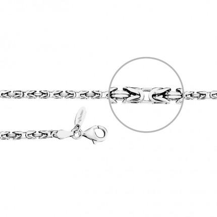 DER KETTENMACHER Sterlingsilber Rhodiniert Königsarmband Diamantiert 3,0mm KÖ1-19S