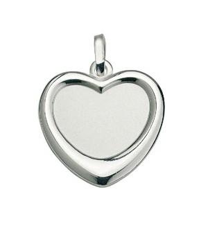 CEM Anhänger Gravurplatte Herz Silber BAH 904718