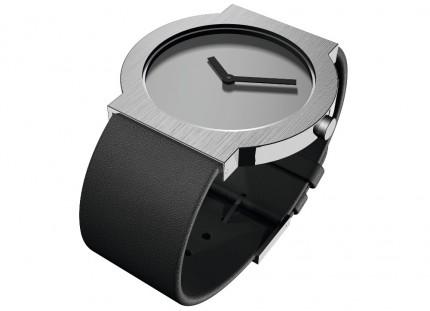 ROSENDAHL Armbanduhr I Large Edelstahl Lederband Schwarz 43285