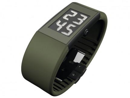 ROSENDAHL Armbanduhr Digital Watch II Large Edelstahl Polyurethan Grün 43109