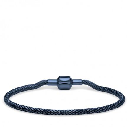 Bering Armband Edelstahl Milanaise Blau 613-70-X0