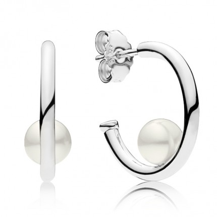 PANDORA Ohrschmuck Silber Contemporary Pearls 297528P