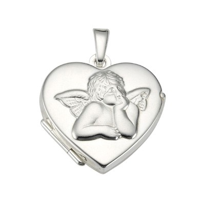 CEM Anhänger Medaillon Silber Herz/ Engel BME 901132